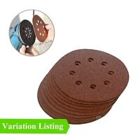 Punched Sanding Discs, Orbital Sander Pads 115mm, 125mm & 150mm / Grit Options