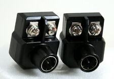Set of Two Quick Connect F Plug Transformer 300 ohm-75 ohm Silver Contacts