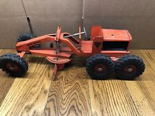 VINTAGE NY-LINT TOYS PRESSED STEEL ROAD GRADER CONSTRUCTION TOY NYLINT