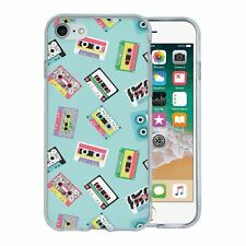 For Apple iPhone 7 Silicone Case Retro Casette Tapes - S428