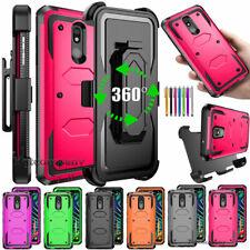 For LG K40/Solo 4G LTE/K12+/X4 2019/Harmony 3 Phone Case Cover+Holster Belt Clip