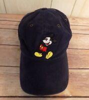 Walt Disney World Mickey Mouse Baseball Hat Cap Adjustable Embroidered Blue