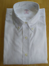 NWOT Brooks Brothers White Cotton Oxford Cloth Button Down Collar 16-34