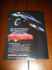 1991 PONTIAC FIREBIRD TRANS AM  ***ORIGINAL AD***