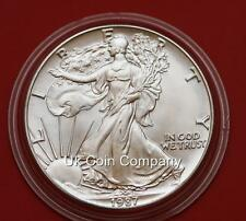 1987 American 1oz ARGENTO LIBERTY EAGLE $1 UN DOLLARO MONETA