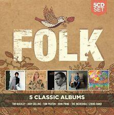 5 Classic Albums: Folk by Various Artists (CD, Nov-2017, Rhino (Label))