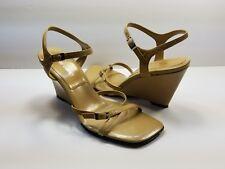 Nine West Beige Strappy Wedge Sandals - Size 6M