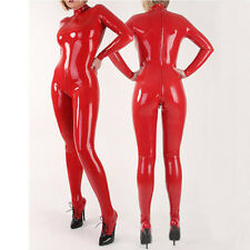 Latex Bodysuit Catsuit Back Zipper with Socks Rubber Jumpsuit Club Wear Costumes