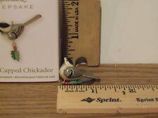 Hallmark 2011 Black-Capped Chickadee Miniature Orn Inspired By Beauty of Birds