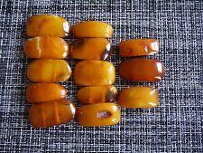 Butterscotch Vintage Baltic Amber, 13 Single Pieces with holes (bracelet)
