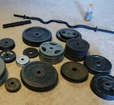 """Standard 1"""" Weight Plates Home Gym Exercise Weights Set of 2.5 5 7.5 10 25 LB"""