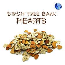 50 pcs Birch Tree Bark Hearts Wooden Shapes Crafts Home Venue Rustic Decoration
