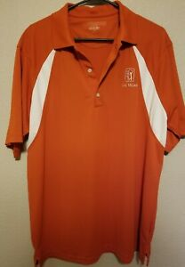 Greg Norman Play Dry Performance Large Polo Shirt TPC Las Vegas Golf Course