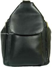 NEW GIRLS/LADIES VISCONTI BLACK SOFT LEATHER BACKPACK BAG