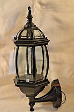 Electric Outdoor Lantern Porch Light 6 Configurations Glass & Black Die Cast