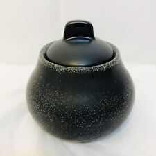 Lars Thoren Jar with Lid Black Glaze Mid Century Made in France Swedish Potter