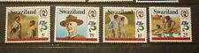 OLD BOY SCOUT GIRL GUIDE STAMP COLLECTION, SWAZILAND 1983 SET OF 4 MINT