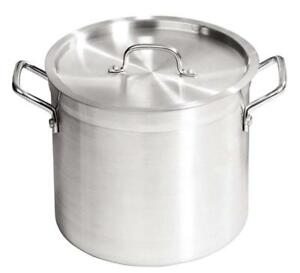 Commercial Quality ZSP Aluminium Stockpot With Lid 24 L Winter Broths Soups etc