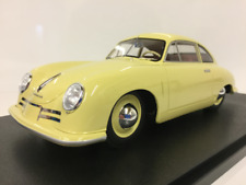 PORSCHE 356-2 GM Coupe 1948 Yellow 1:18 Cult Scale Models cml042-1