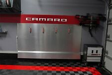 Camaro Garage Sign 6 Feet Long  Brushed Silver