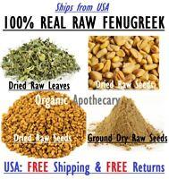 100%ORGANIC FENUGREEK LEAF/SEED/Whole/Powder/Oil TRIGONELLA FOENUM-GRAECUM Methi