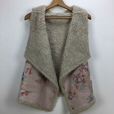 BB Dakota Women's Groundbreaker Reversible Faux Fur Vest NWT Size Medium