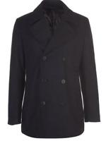 Linea Men Coat/Jackets Linea Sanderson Peacoat Mens Navy Size UK M *REF41