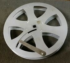 "Vintage 7"" Siemens 16mm Metal Cine Film Take Up Spool Reel, 400 Foot, Germany"