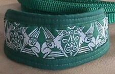 GREEN GRIFFIN COLLAR w LEAD ITALIAN GREYHOUND XOLO MALTESE CHINESE CRESTED XOLO