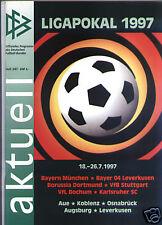 Neues AngebotDFB-Ligapokal 1997 Offizielles Programm mit Bayern München, Borussia Dortmund...