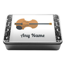 Personalised Musical Instruments Kids Metal Storage Tin Box