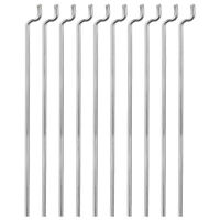 1.2mm x 450mm (17.7 inch) Steel Z Pull/Push Rods Parts Pack of 10