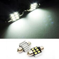 2x DE3022 DE3175 Samsung 6 SMD LED Interior Dome Light 31mm Festoon for NISSAN