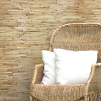 real natural bamboo grasscloth Wallpaper wall coverings rolls yellow brown 3D