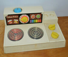 Vintage FISHER PRICE Stove Playset 1978 Pretend Play Kitchen Toy