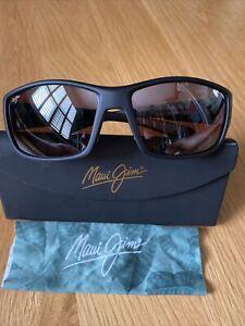 Maui Jim Local Kine Sunglasses Matte Black With Maui Rose Glass Lenses.