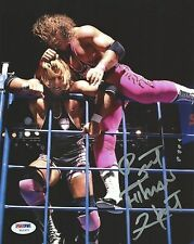 Bret Hart Signed WWE 8x10 Photo PSA/DNA COA Autograph Wrestling Picture w/ Owen