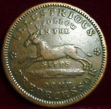 TURTLE and HORSE  1837 Hard Times Token