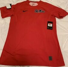 Ole Miss Mississippi Rebels Nike Pro Hypercool Red Shirt New NWT L Large