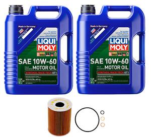 10L Engine Oil 10W60 LIQUI MOLY + Filter Kit MAHLE OEM for BMW M5 M6 (2006-2010)