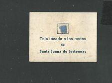 holy card reliquia antigua de Santa Juana Letonac image pieuse estampa