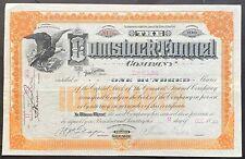 COMSTOCK TUNNEL COMPANY Stock 1889 Virginia City, Nevada Comstock Lode. T. Sutro