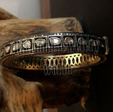 Vintage 5.37cts Natural Rose Antique Cut Diamond Jewelry Silver Bracelets Bangle