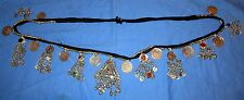 "Belt Beaded Alpaca Silver Afghan Kuchi Tribal Belly Dancing 45"" long"