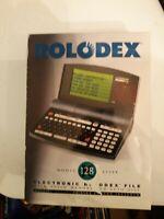 Vintage Rolodex Desktop Organizer Electronic File Model 128k