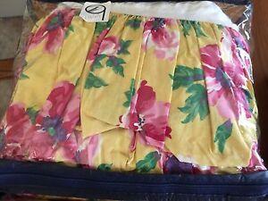 "Ralph Lauren CHELSEA TWIN Bedskirt Dust Ruffle 15"" Drop Floral"