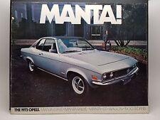 New listing 1973 Opel Brochure Manta Luxus Rallye Wagon 1900 Gt Opels