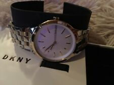 DKNY  'Park Slope' Two-Tone Stainless Steel Women's NY2463 Watch NEW