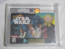 NEW Super Star Wars Super Nintendo Game VGA 90+ NM+/MT GOLD Graded SNES starwars