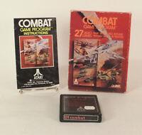 Vintage Boxed Atari 2600 game 01 Combat Tested & Working